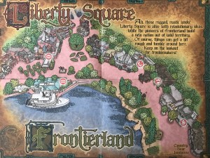 Liberty Square and Frontierland map for Sorcerers of the Magic Kingdom