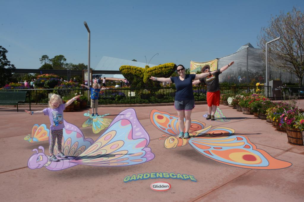 butterfly photo pass at Epcot Flower and Garden festival