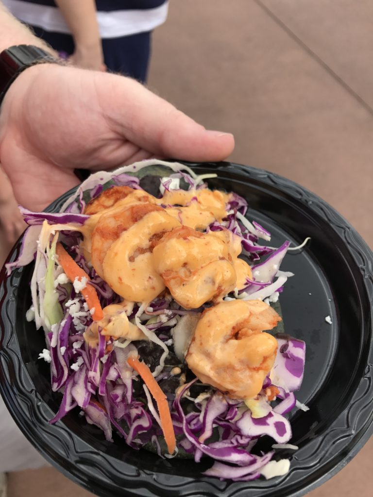 Tequila Chipotle Shrimp at Epcot Food and Wine Festival