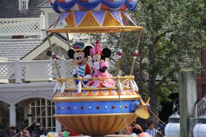 Mickey and Minnie in Festival of Fantasy Parade