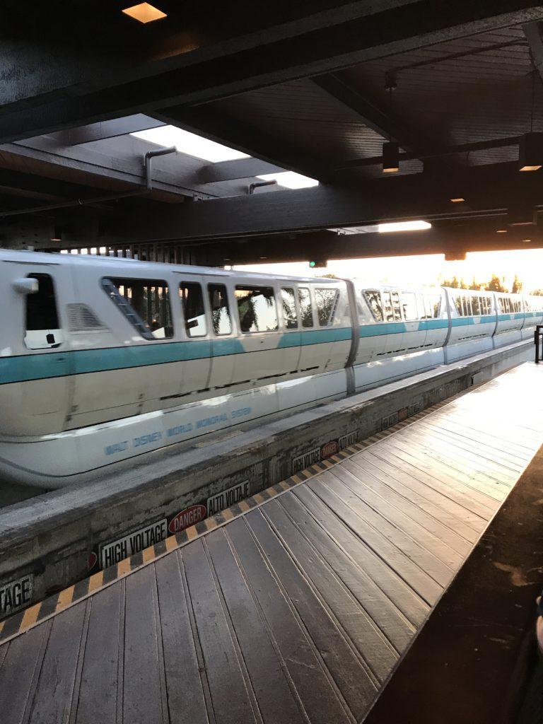 Monorail inside Disney's Polynesian Resort