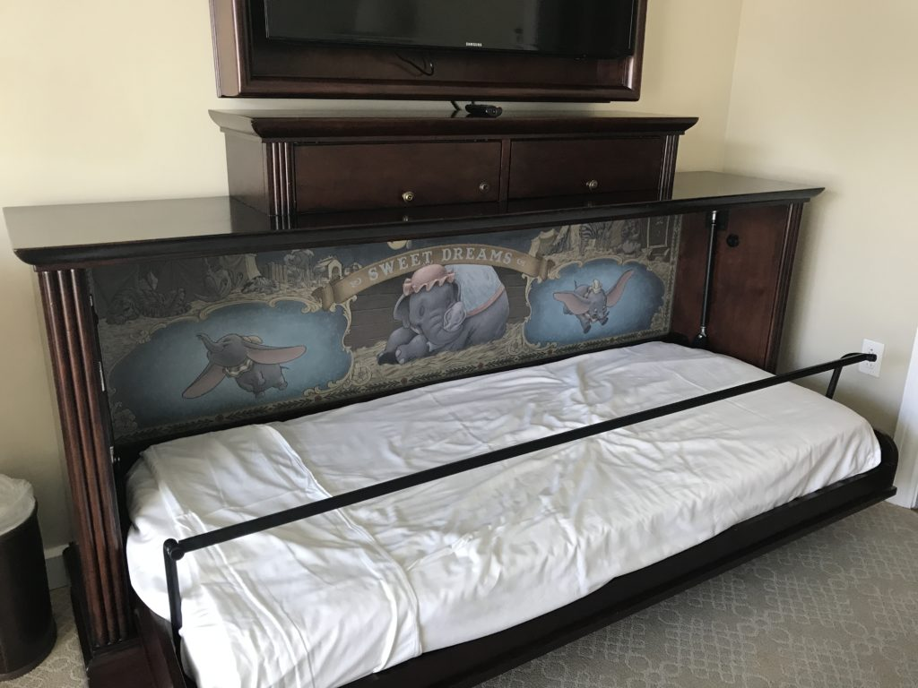Dumbo Murphy Bed in Grand Floridian Villas Studio