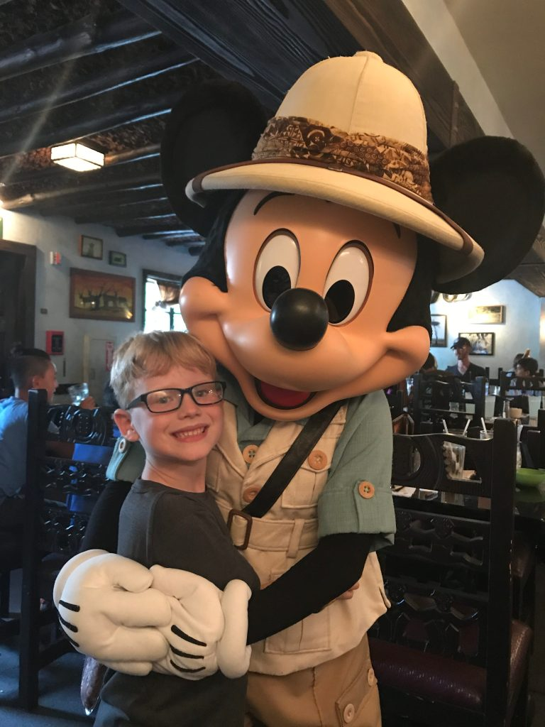 Tusker House with Mickey Mouse