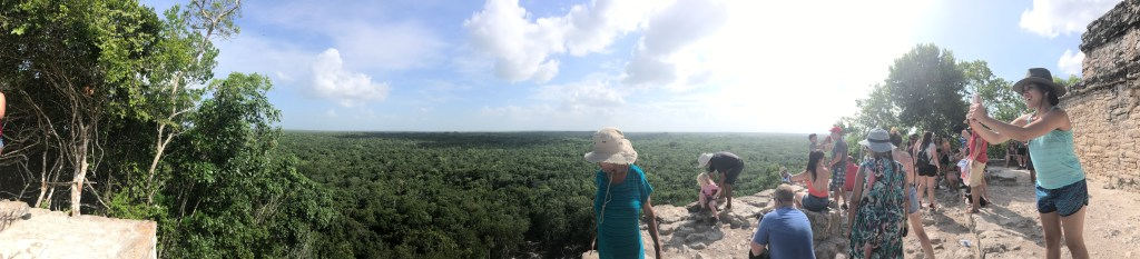 Panorama from top of Coba