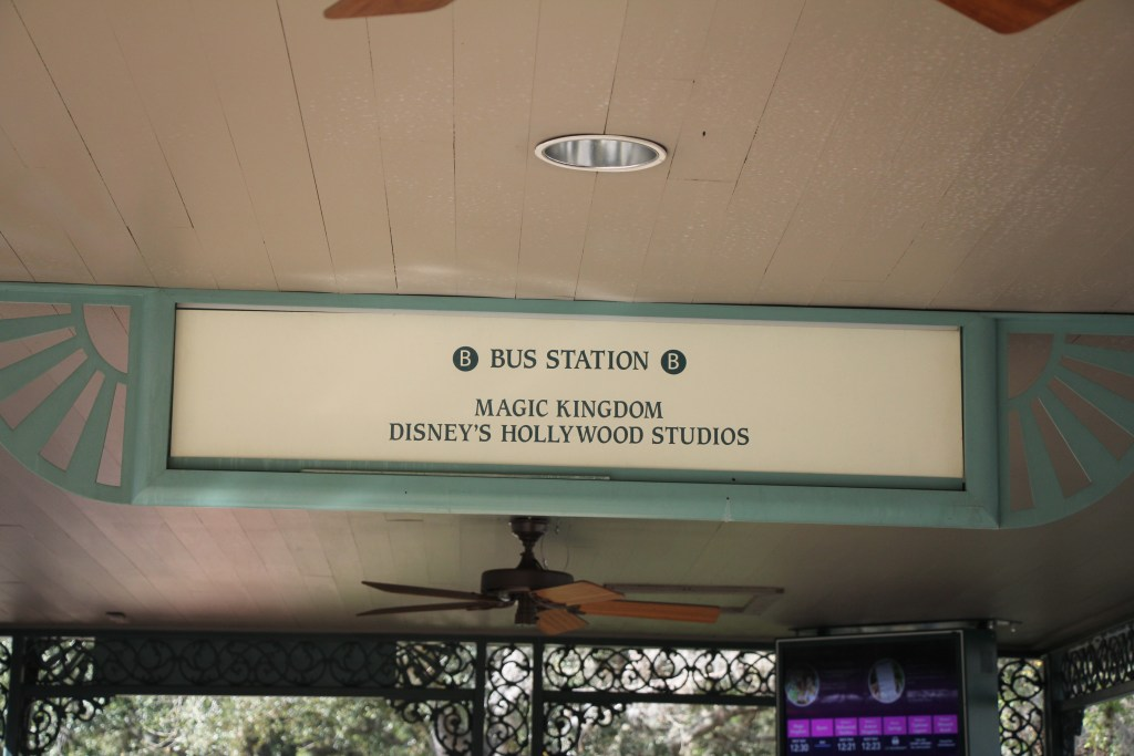 Bus Station Sign Port Orleans French Quarter