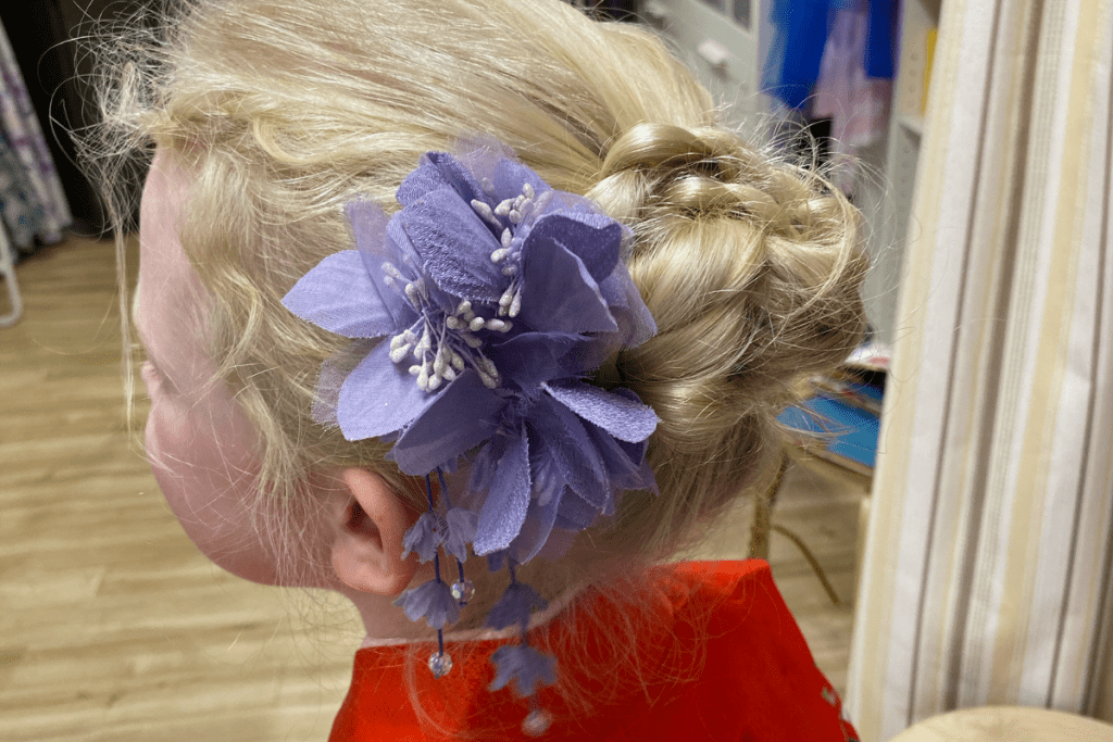 Flower in Hair at Kimono Experience