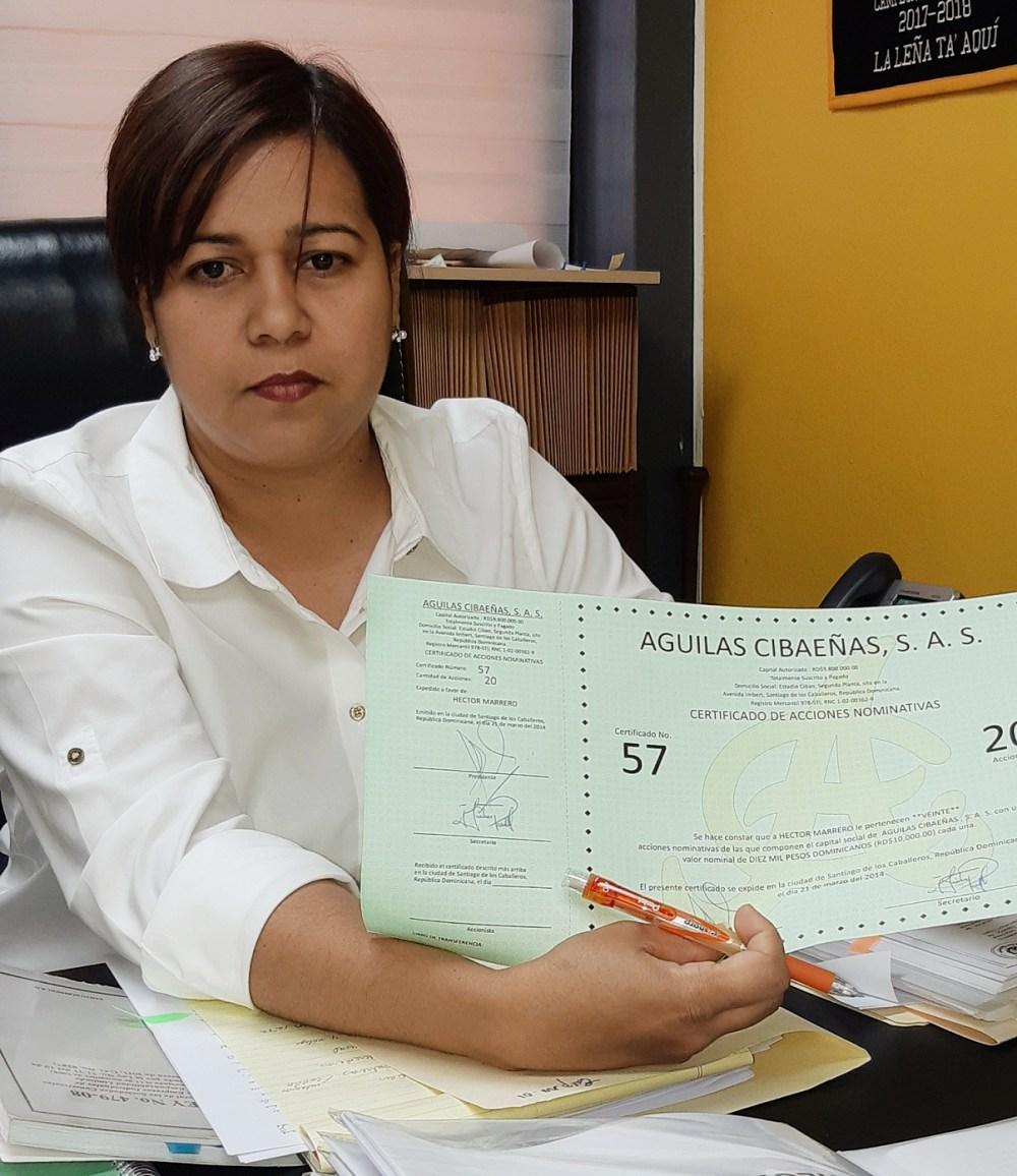 Licenciada Gutierrez Guillen , Aguilas Cibaeñas