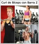 Curl de Bíceps con Barra Z. Más peso y menos riesgo