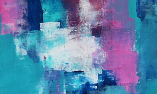 Create Abstract Art Using A Blue, Green and Pink Colour Combination