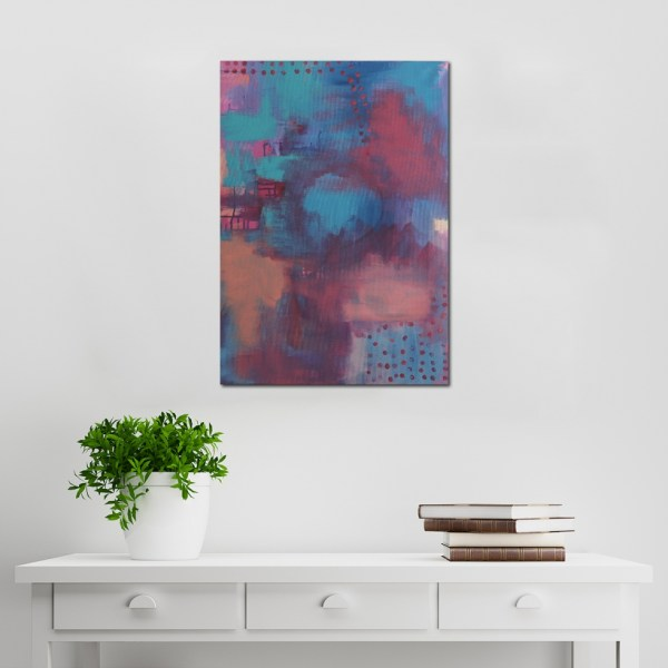 Abstract Acrylic Canvas Art - Soft Feathers by Charlie Albright | Moments by Charlie | Creative Abstract Artist, Photographer and Blogger | Made in Adelaide, Australia