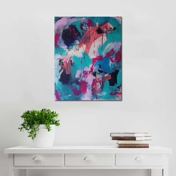 Abstract Acrylic Canvas Art - Chaos Before The Light - Movement Collection by artist Charlie Albright | Moments by Charlie | Creative Visual Artist, Photographer and Blogger | Made in Adelaide, Australia