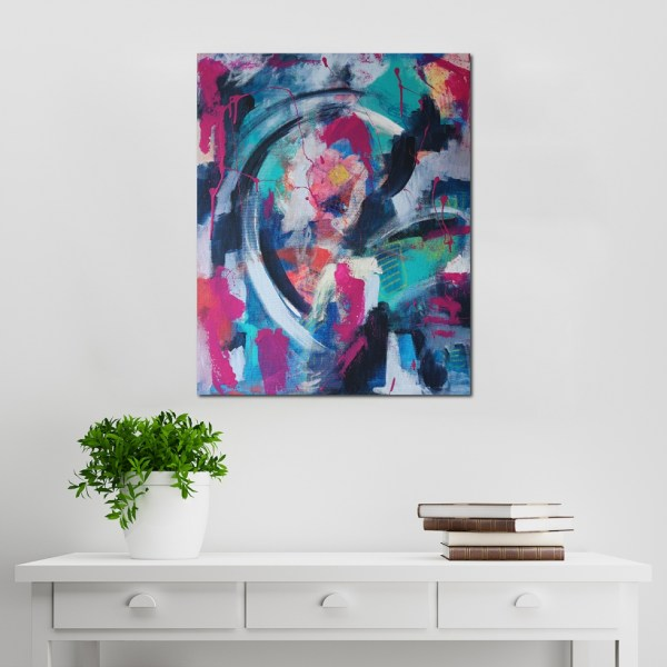 Abstract Acrylic Canvas Art - Crackling Tornado - Movement Collection by artist Charlie Albright | Moments by Charlie | Creative Visual Artist, Photographer and Blogger | Made in Adelaide, Australia