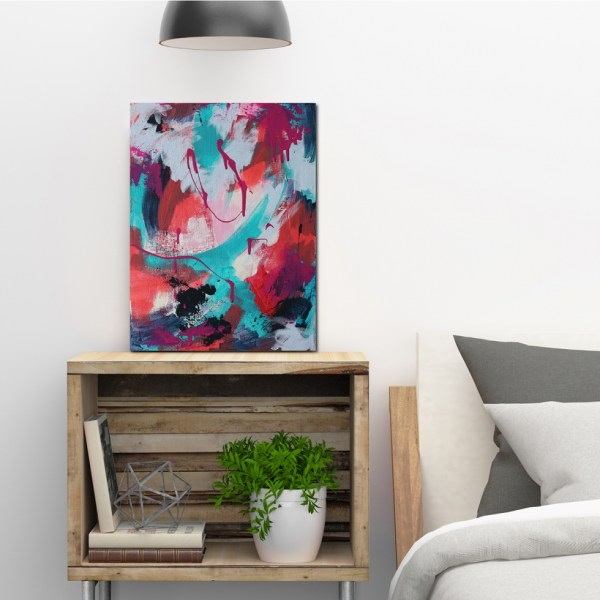 Abstract Acrylic Canvas Art - Triumph - Movement Collection by artist Charlie Albright   Moments by Charlie   Creative Visual Artist, Photographer and Blogger   Made in Adelaide, Australia