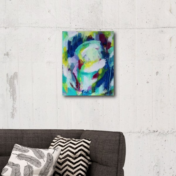Abstract Canvas Art Titled Extra Happy By Creative Visual Artist Charlie Albright | Glenside Art Show 2018 - Mini Exhibition - Where There's A Will, There's A Way | Moments by Charlie Online Shop | Adelaide, South Australia