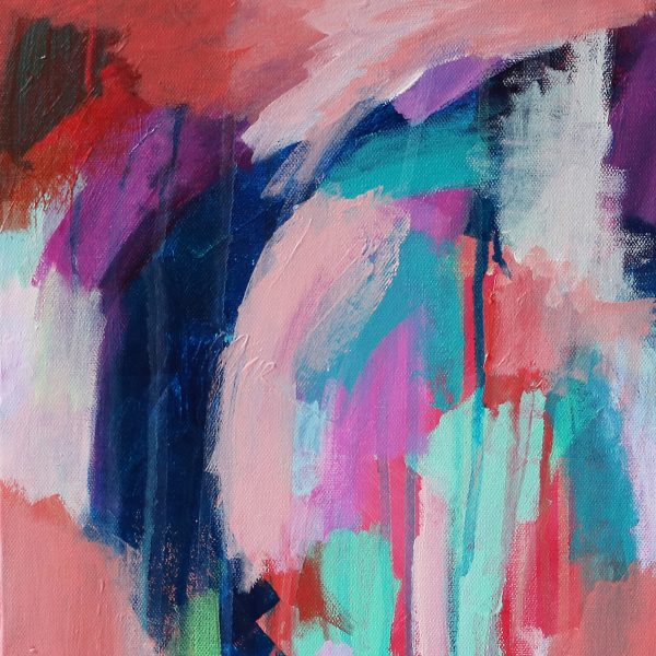 Abstract Canvas Art Titled On The Way There By Creative Visual Artist Charlie Albright | Glenside Art Show 2018 - Mini Exhibition - Where There's A Will, There's A Way | Moments by Charlie Online Shop | Adelaide, South Australia