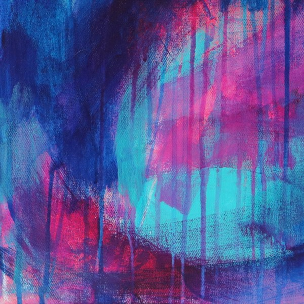 Abstract Canvas Art Titled Passion By Creative Visual Artist Charlie Albright | Glenside Art Show 2018 - Mini Exhibition - Where There's A Will, There's A Way | Moments by Charlie Online Shop | Adelaide, South Australia