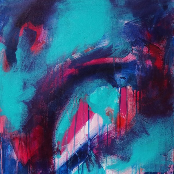 Abstract Canvas Art Titled The Way There By Creative Visual Artist Charlie Albright | Glenside Art Show 2018 - Mini Exhibition - Where There's A Will, There's A Way | Moments by Charlie Online Shop | Adelaide, South Australia