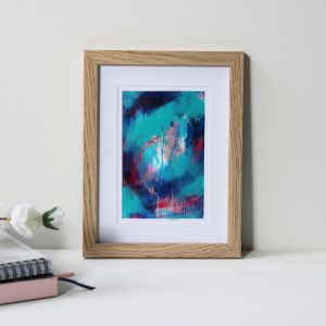 "Framed Art Print Titled Choose A Path By Creative Visual Artist Charlie Albright | Natural Oak Frame 6"" x 8"" Mount 4"" x 6"" 