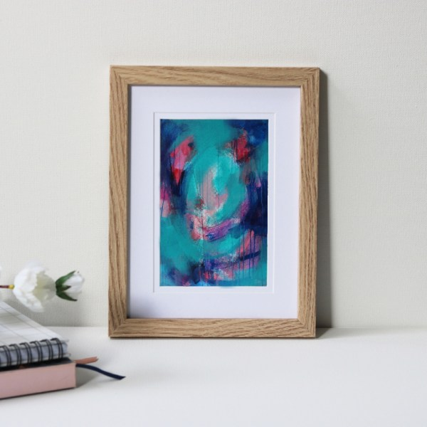 "Framed Art Print Titled There's Always A Path By Creative Visual Artist Charlie Albright | Natural Oak Frame 6"" x 8"" Mount 4"" x 6"" 