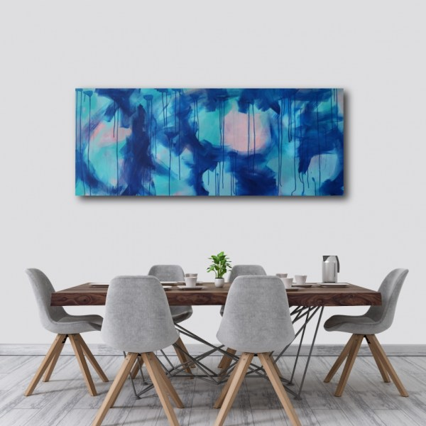 Abstract Canvas Art Titled Summer Rain Dance By Creative Visual Artist Charlie Albright   Moments by Charlie Blog - Online Shop - Creative Freelance Services   Adelaide, South Australia