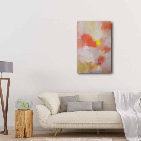 """Abstract Canvas Art Titled Feathers Of Wonder By Adelaide Artist Charlie Albright 