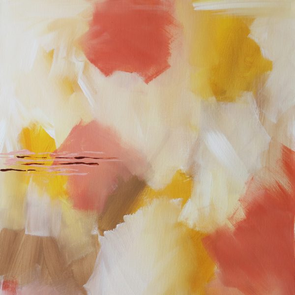 """Abstract Canvas Art Titled Field Of Wonders By Adelaide Artist Charlie Albright 