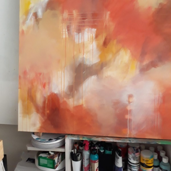 "Abstract Canvas Art By Adelaide Abstract Artist Charlie Albright | Canvas Size 36"" x 48"" 