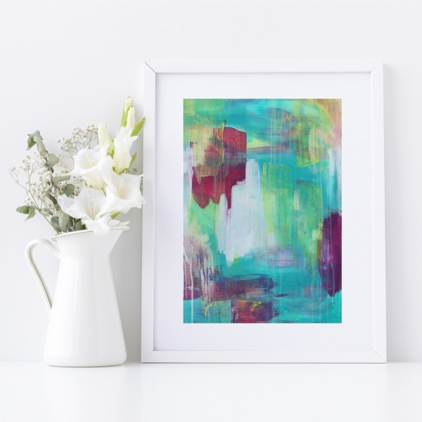 Abstract Fine Art Giclee Print Titled Summer Nightingale 2 in Size A4 | By Adelaide Abstract Artist Charlie Albright | Moments by Charlie Blog - Online Shop - Creative Freelance Services | Adelaide, South Australia