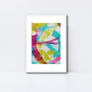 Abstract Art Framed Original On Art Paper Titled Reignite 1 | By Adelaide Abstract Artist Charlie Albright | Moments by Charlie Blog - Online Shop - Creative Freelance Services | Adelaide, South Australia