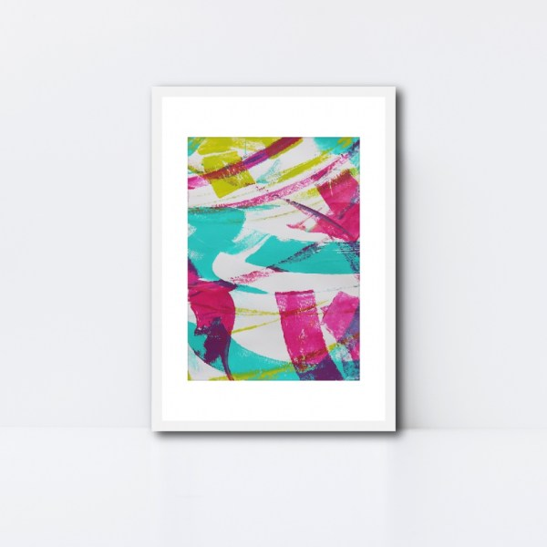 Abstract Art Framed Original On Art Paper Titled Reignite 2   By Adelaide Abstract Artist Charlie Albright   Moments by Charlie Blog - Online Shop - Creative Freelance Services   Adelaide, South Australia