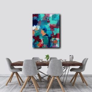 """Abstract Canvas Art Titled All The Work Was Done By Adelaide Abstract Artist Charlie Albright 
