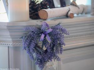 Lavender, birch and pine cone accents-7177