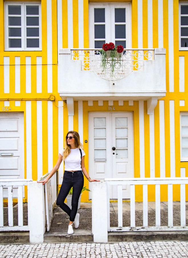 Costa Nova-yellow house-portugal-momentsofyugen