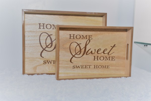 Wooden Home Sweet Home Tray 1