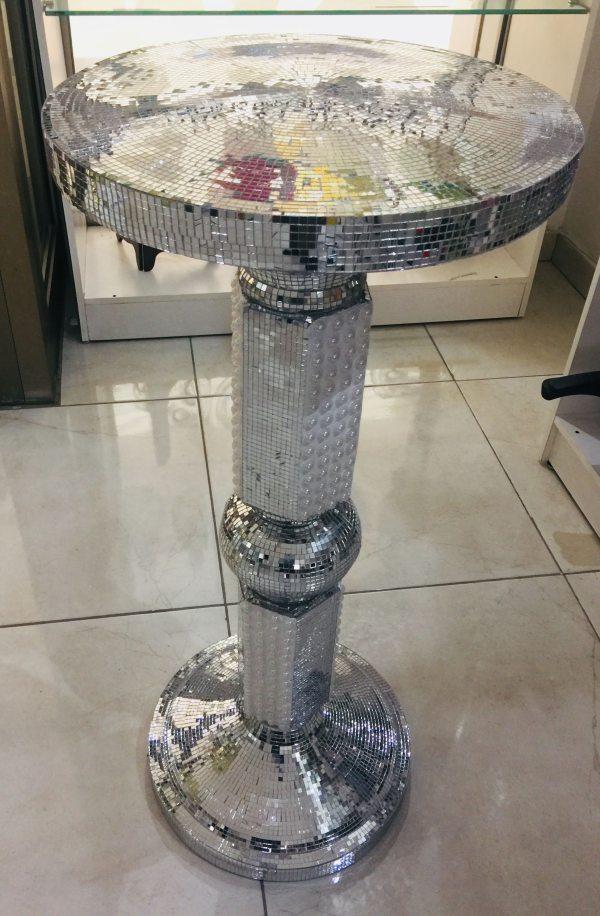 Tall Pedestal Vase Silver 1
