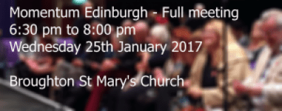 Meeting Momentum Edinburgh Wednesday