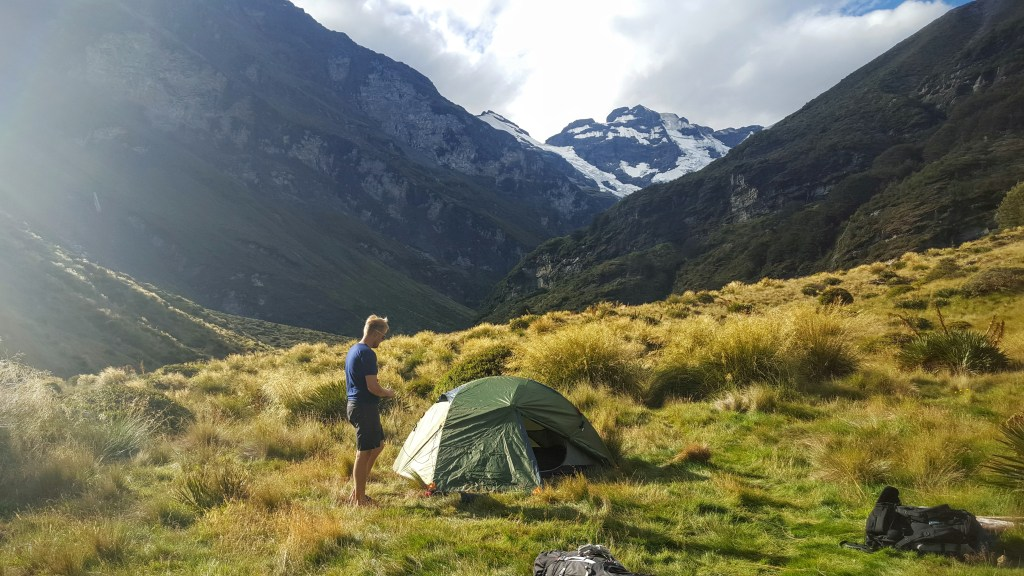 Camping at Earnslaw Burn