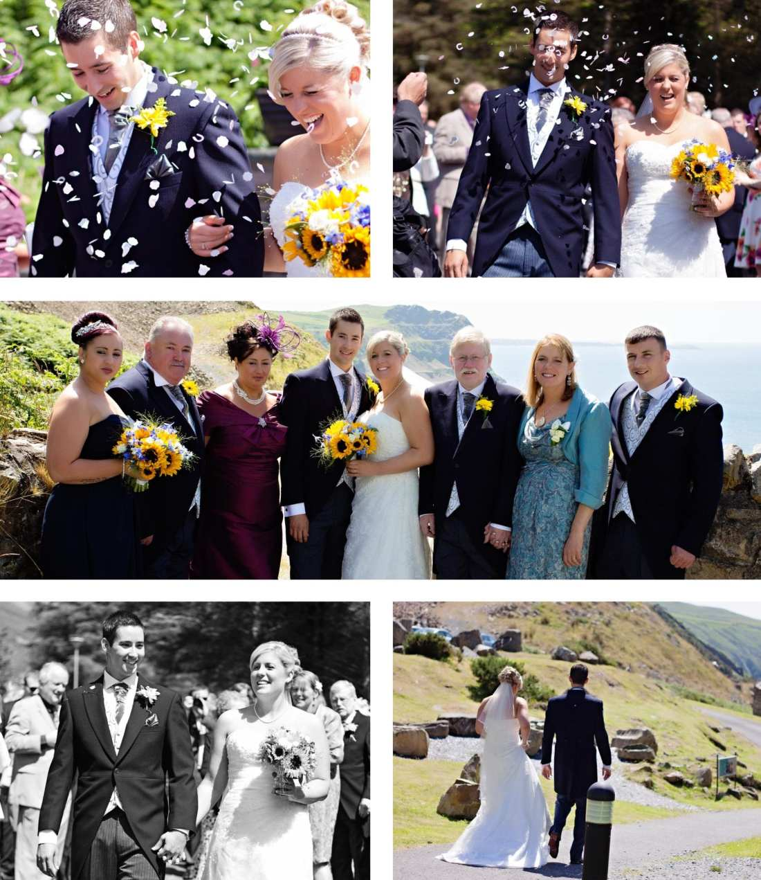 North Wales wedding - Confetti toss