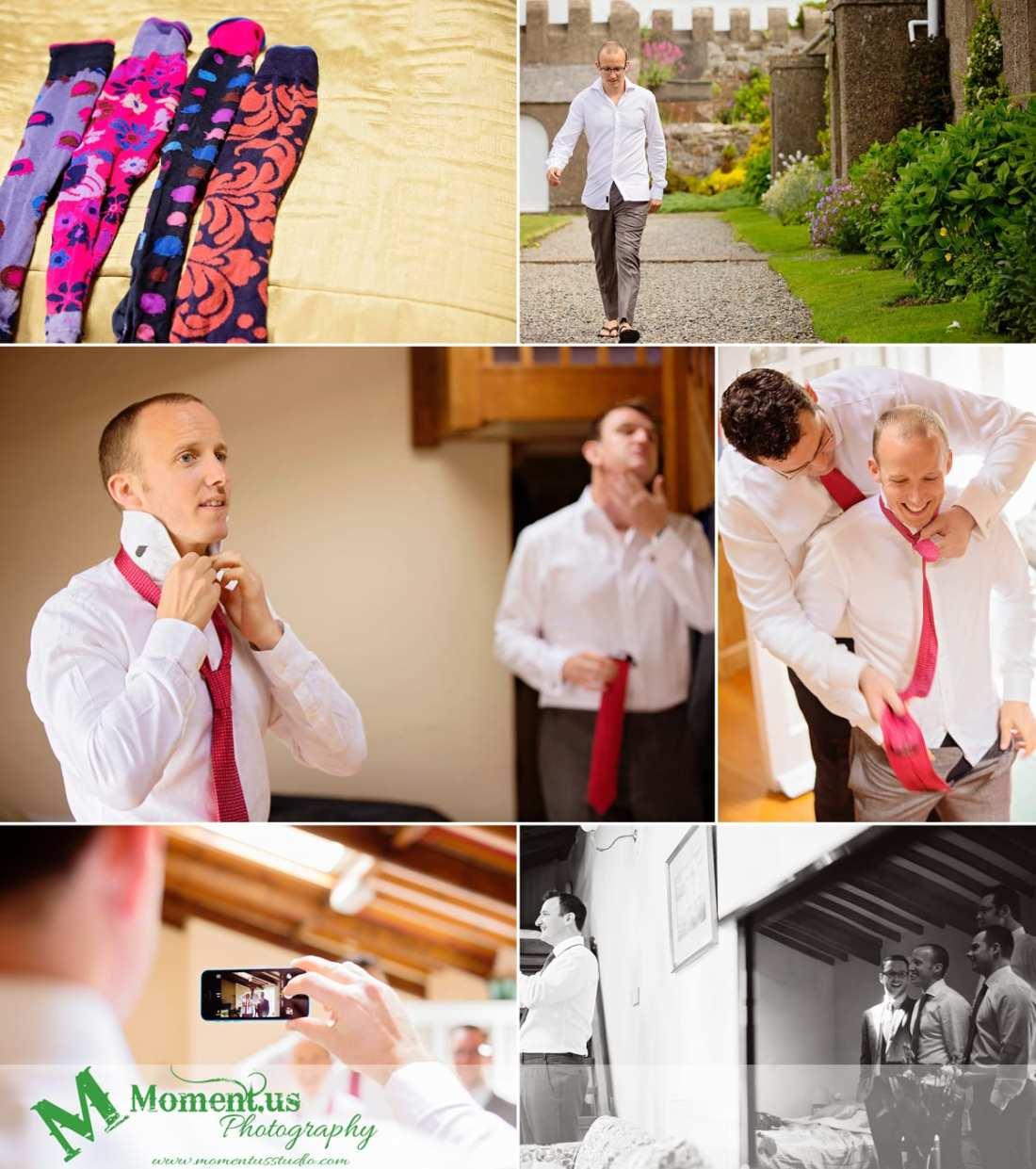 Fort Belan Wedding - colourful socks