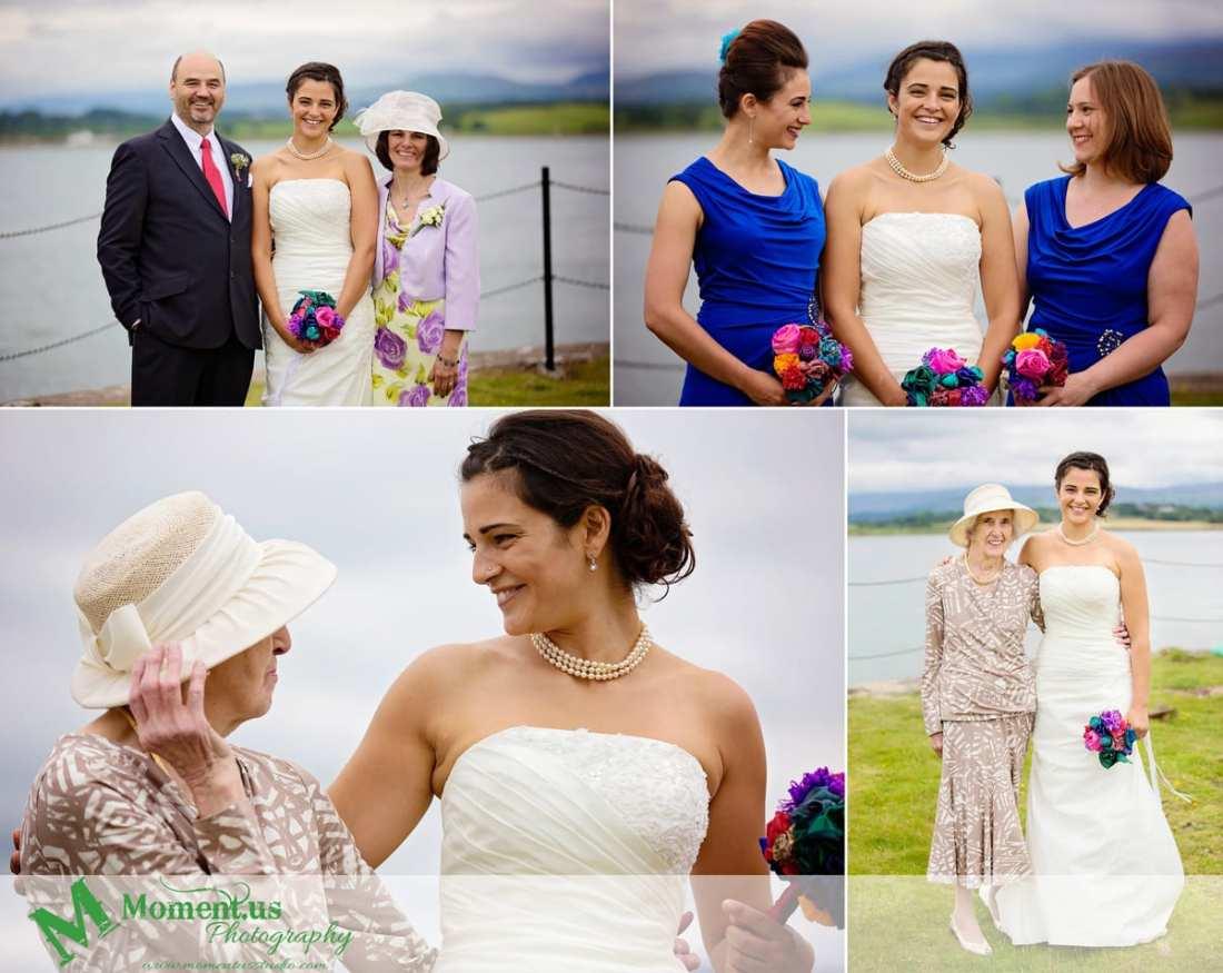 Fort Belan Wedding - bride with family
