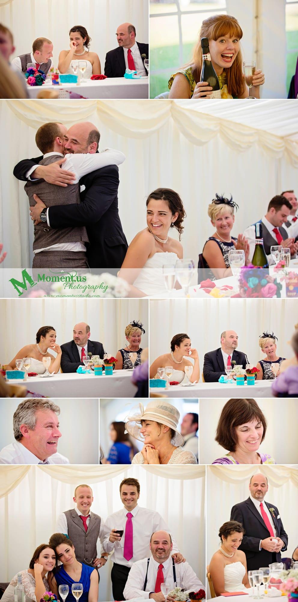 Fort Belan Wedding - wedding guests at dinner