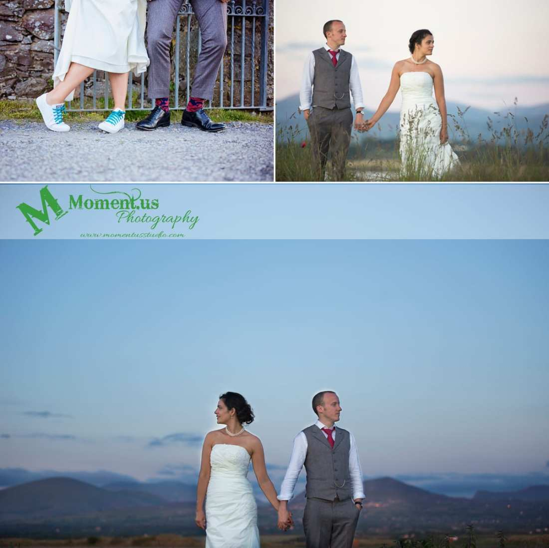 Fort Belan Wedding - bride and groom's shoes