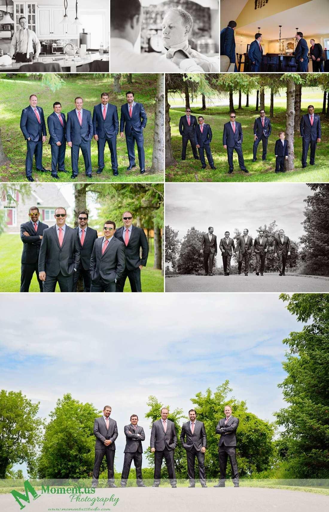 Outdoor Cornwall Wedding - guys on road