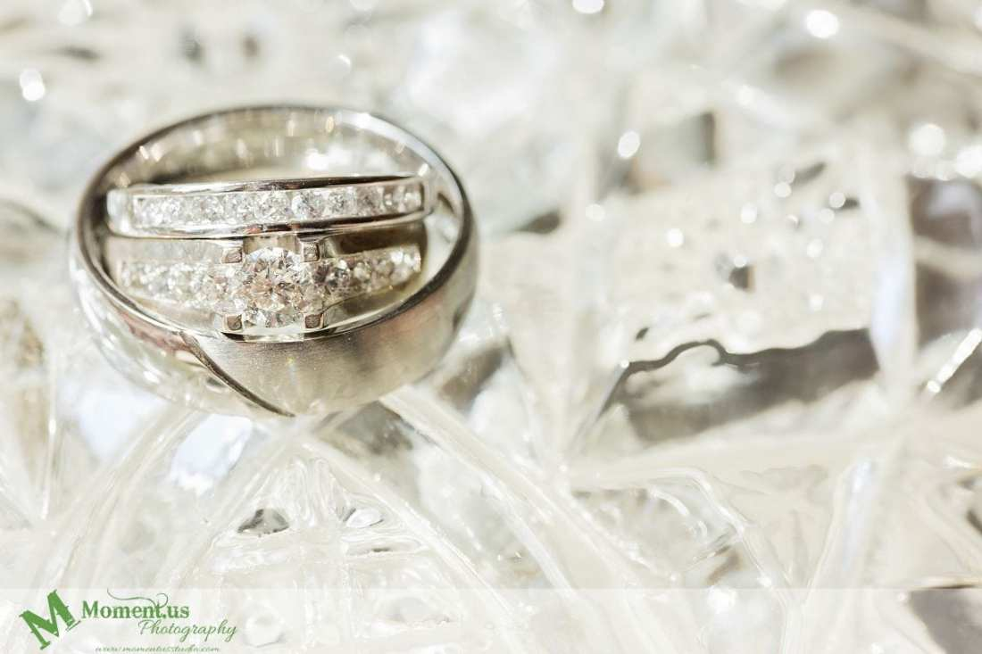 Williamstown Country Wedding - wedding bands on glass bowl