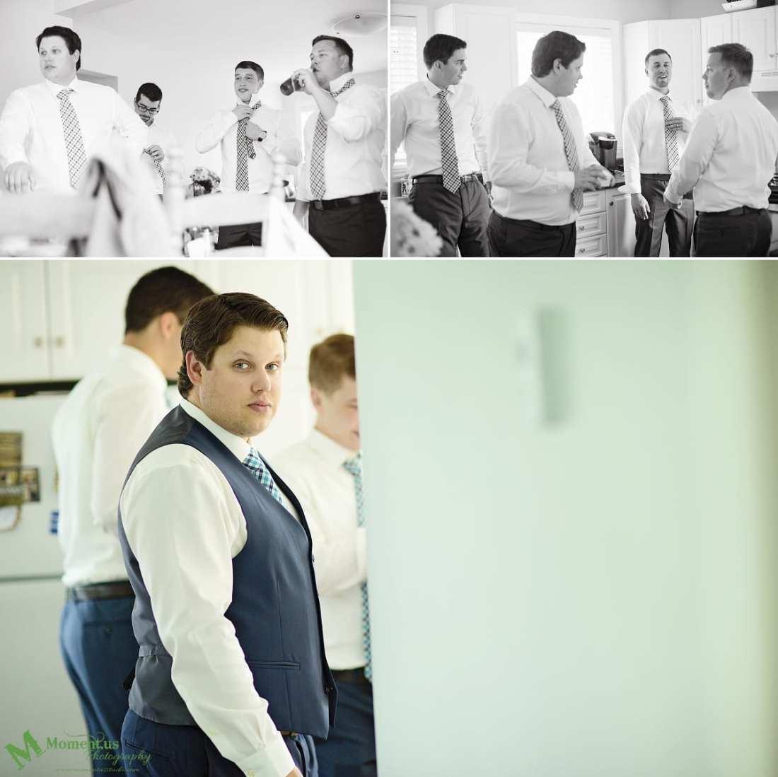 rustic country wedding photos - groom in waistcoat
