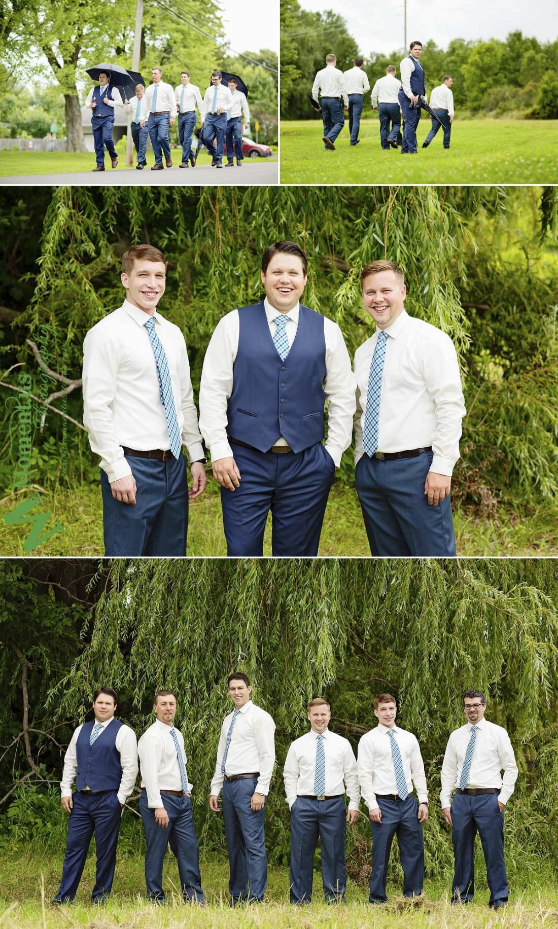 rustic country wedding photos - guys in blue ties by willow
