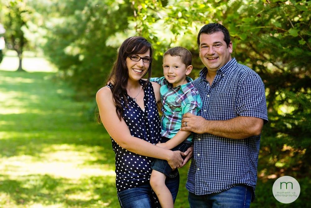 Cornwall family under tree