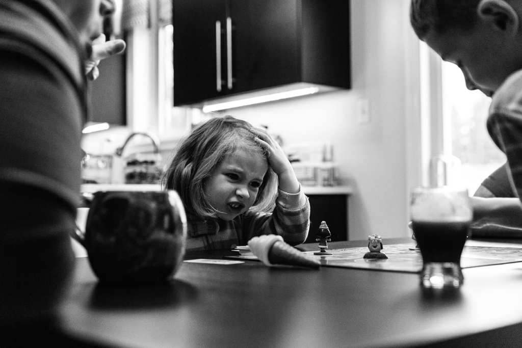 girl shows Candyland woes