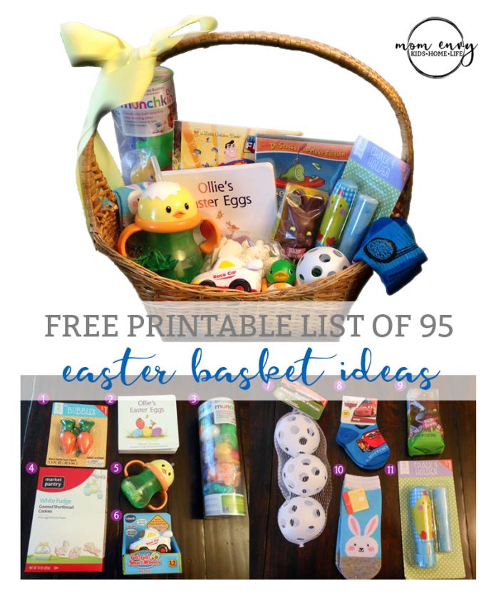 easter basket ideas for kids mom envy