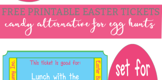 free printable easter tickets
